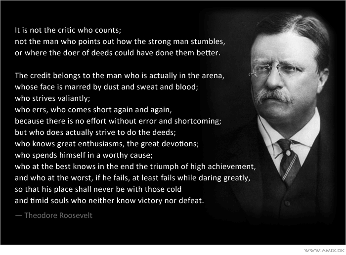 The Man in the Arena VS The Critic | What Would Spidey Do? Theodore Roosevelt Quotes