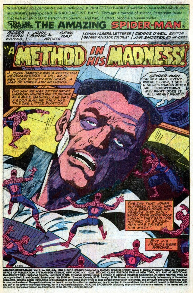 Jonah's friends were wrong. As was Marv Wolfman, the guy who wrote the first parts of the story of Jonah's nervous breakdown.