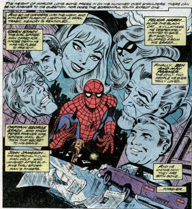 Peter Parker mourns loved ones who will soon be resurrected