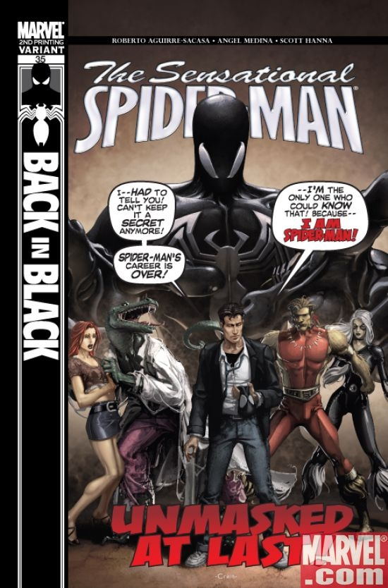 Sensational Spider-Man #35 Cover Second Printing