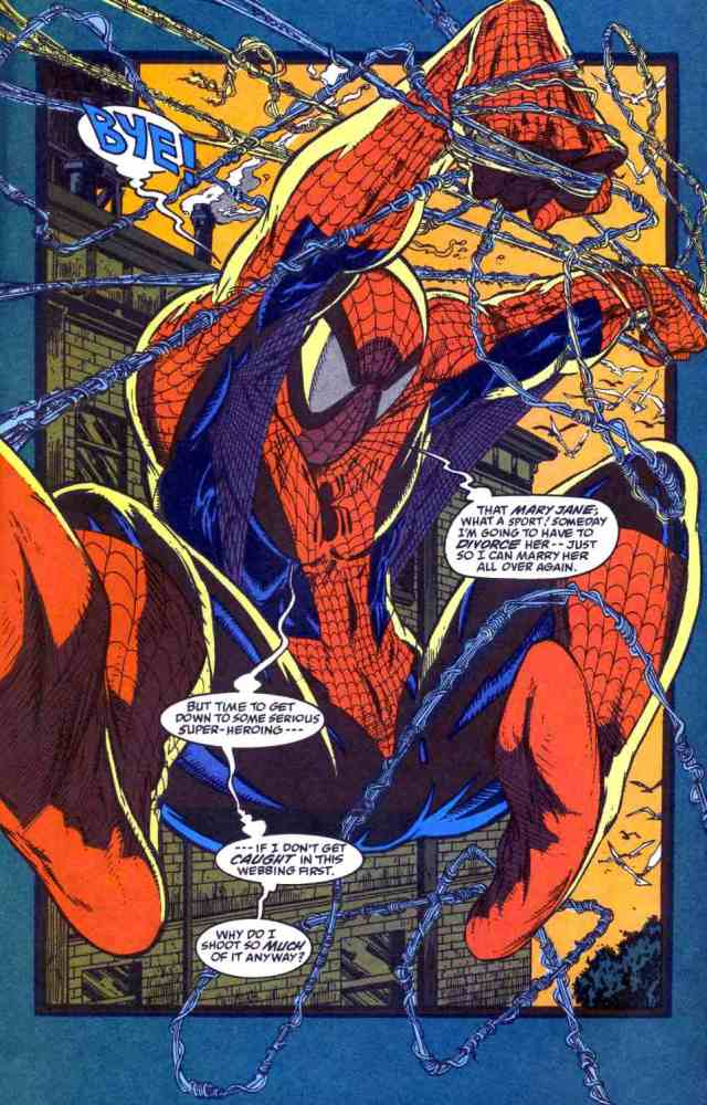 Splash page from Spider-Man #6 by Todd Mcfarlane