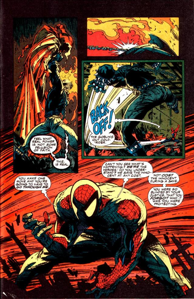 Spider-Man stands up to Ghost Rider