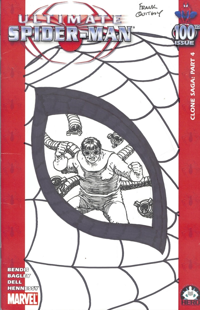 Frankn Quitely spiderman 100 cover