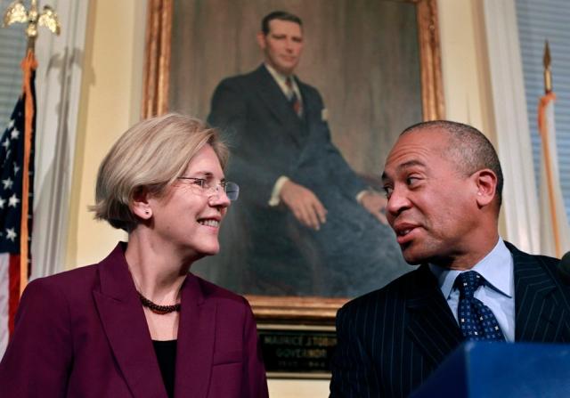 Elizabeth Warren, Deval Patrick