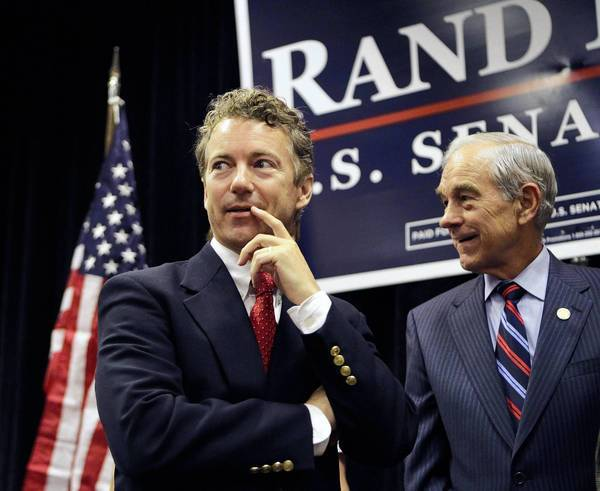 Sen. Rand Paul and Rep. Ron Paul