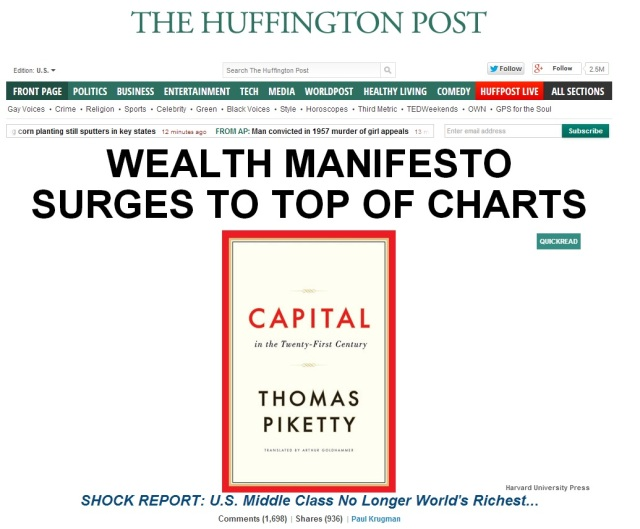 The Huffington Post is excited about the wealth manifesto Capital In the 21st Century