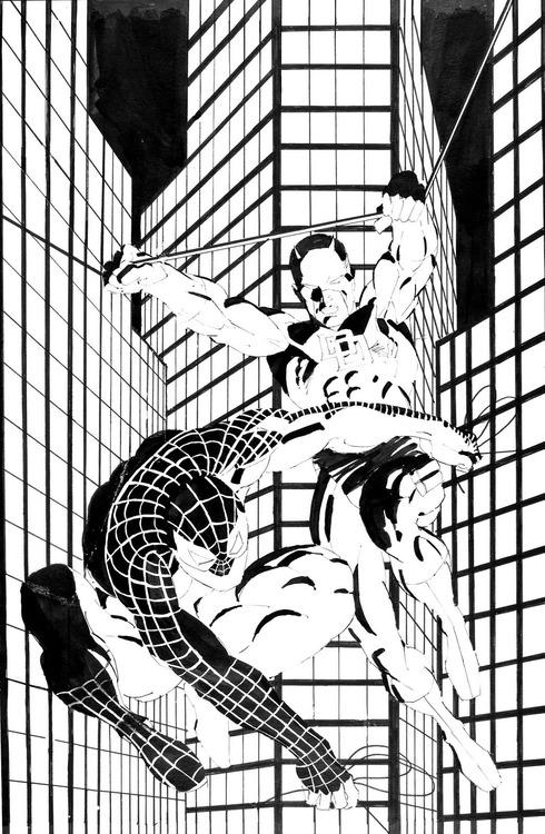 Frank Miller's Spider-Man and Daredevil