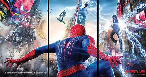 Poster with the bad guys in Amazing Spider-Man 2