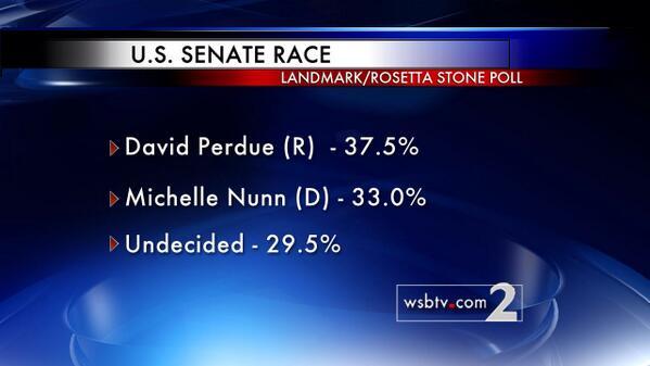 Michelle Nunn and David Perdue close election in Georgia