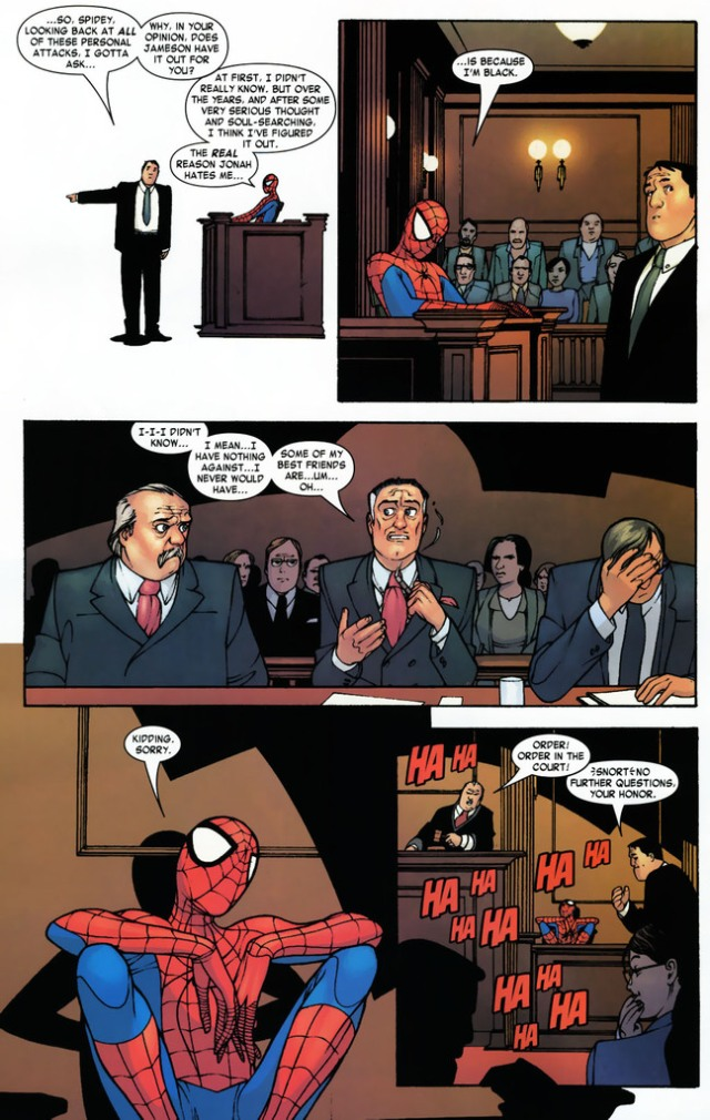 Spider-Man says he's black