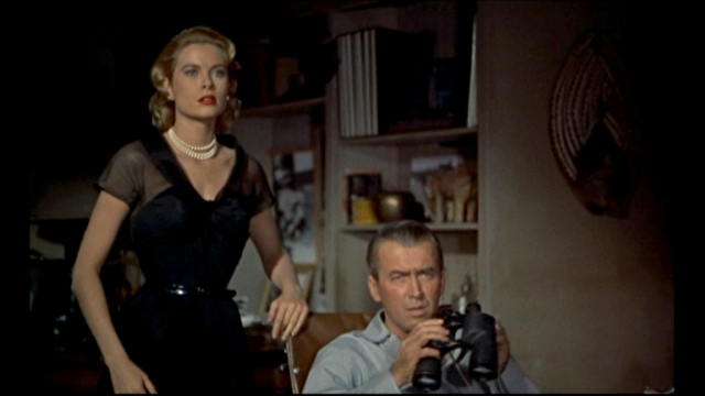 Jimmy Stewart and Grace Kelly in Rear Window