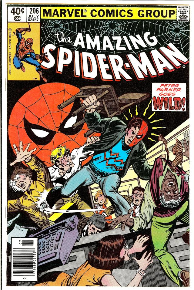 Amazing Spider-Man #206 cover by John Byrne