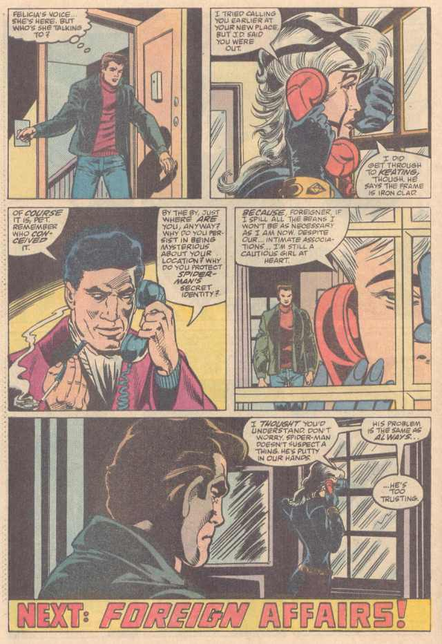 The final (last) page of Peter Parker the Spectacular Spider-Man #128