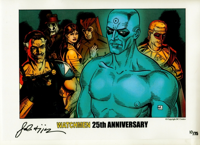 Watchmen 25th Anniversary limt edition print By Dave Gibbons and John Higgins