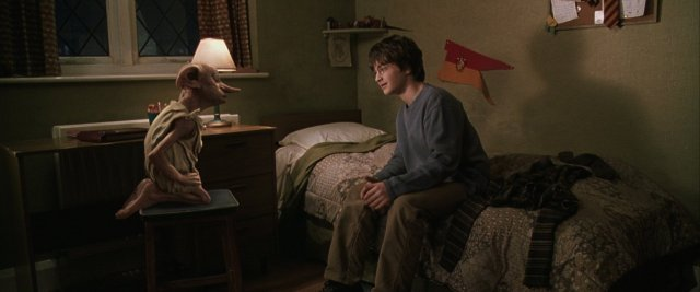 harry potter and dobby in chamber of secrets