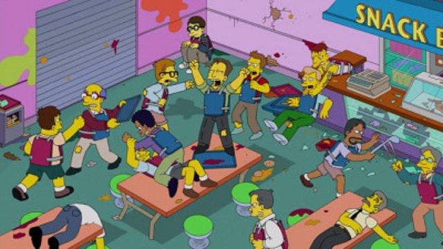Simpsons school chaos